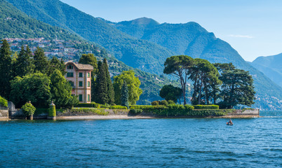 Scenic sight near Tavernola, Lake Como, Lombardy, Italy.