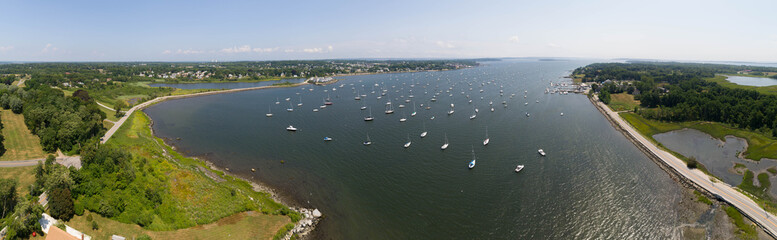 Bristol Harbor Panorama, Rhode Island