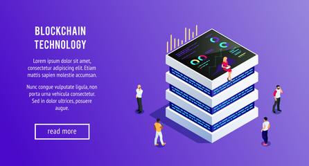 Isometric blockchain. Cryptocurrency.