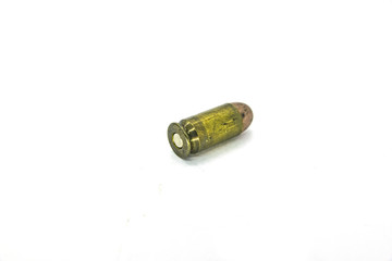 Studio shot of Bullet Ammo isolated in white background