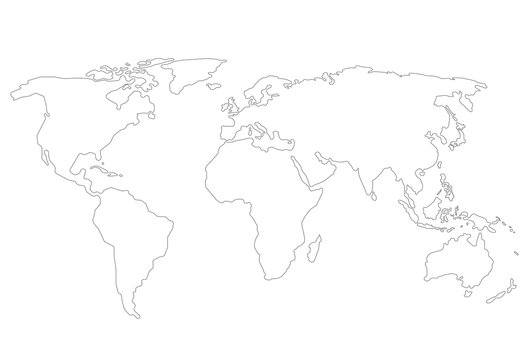 Outlines World map
