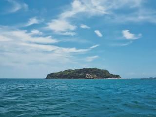 """A small desert island """"Sarushima"""" in Yokosuka, Japan."""