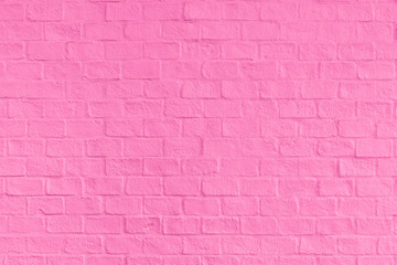 Pink brick wall texture and background