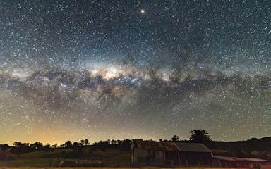 Milky Way over a Farm Shed