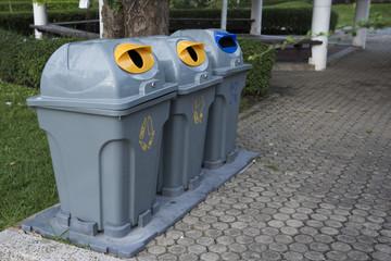 gray color classify public bin