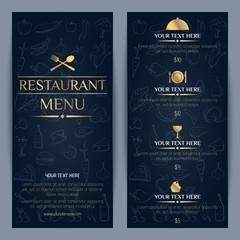 Vector restaurant menu template design