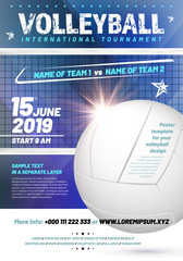 Template for your volleyball tournament poster design