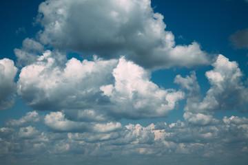 Dark clouds in the blue sky
