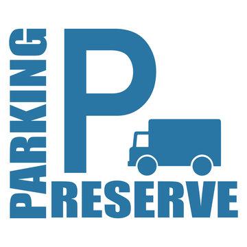 Logo parking réservé.