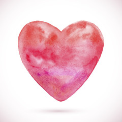 Watercolor texture heart
