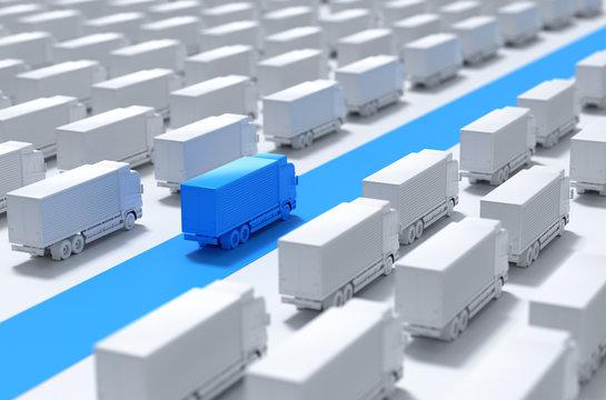 Business and logistics concepts,urgent express , 3d render .