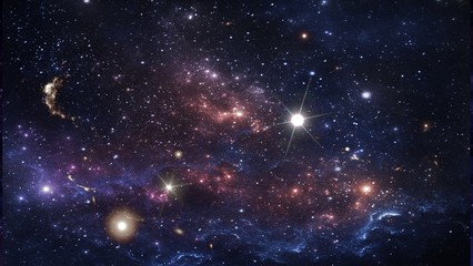 Planets and galaxy, science fiction wallpaper. Beauty of deep space. Billions of galaxies in the universe Cosmic art background