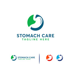 Stomach Shield logo designs concept vector, Stomach Care logo template vector