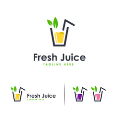 Fresh Juice logo designs concept vector, Sweet Drink logo symbol