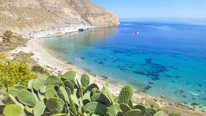 Cala San Pedro. Beach in Cabo de Gata, Almeria. Andalusia, Spain