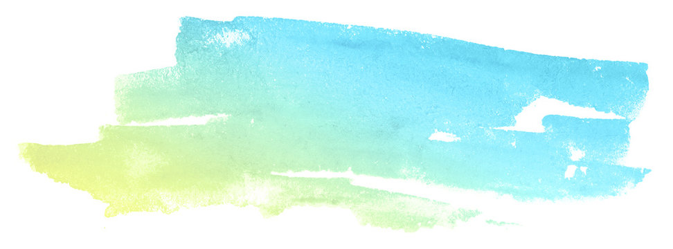 watercolor abstract brown spot blue-yellow