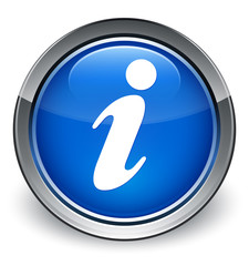 Info icon optimum blue round button