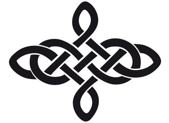 Celtic knot silhouette walltattoo
