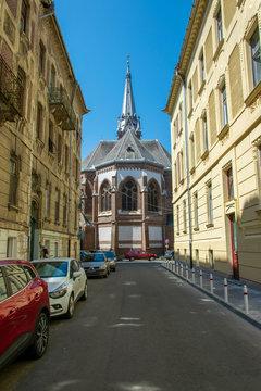 View o a church in Arad Romania