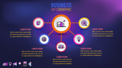 Business infographic for presentation template, Vector illustration