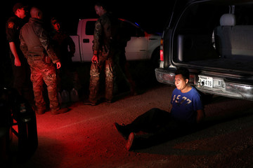 An undocumented man from Mexico is apprehended by Border Patrol agents after allegedly dropping off a group of migrants in an area known for human smuggling near Falfurrias