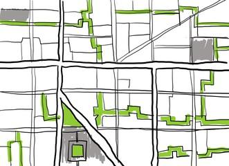 Urbane Planung im Konzept als Idealstadt der Moderne