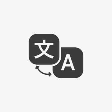Translation Language Vector Icon