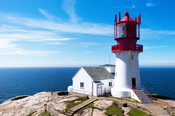 Wall Mural - a Lindesnes lighthouse