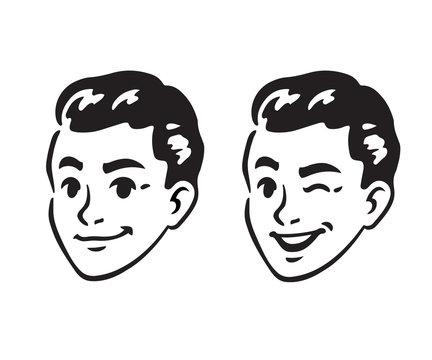 Retro young man portrait