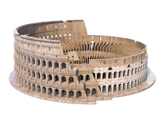 Colosseum, Coliseum isolated on white. Symbol of Rome and Italy, Fototapete