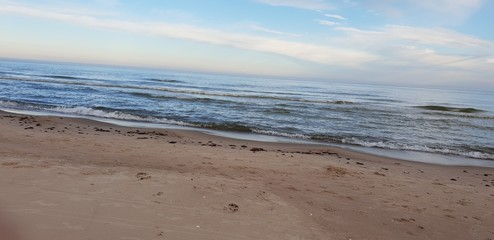 Baltic sea beach in the morning