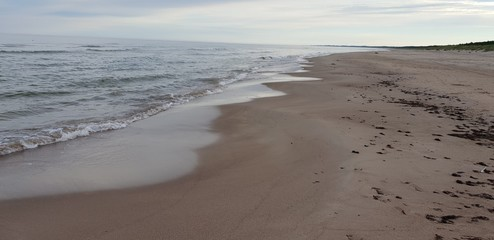 Baltic sea beach in the morning