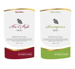 Set of Vector wine label