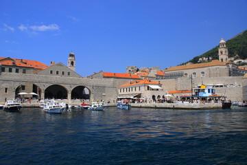 Chorwacja - Port nad Morzem Adriatyckim w Dubrowniku.