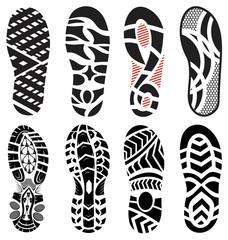footprint  shoes vector