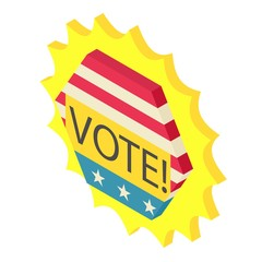 Vote icon. Isometric illustration of vote vector icon for web