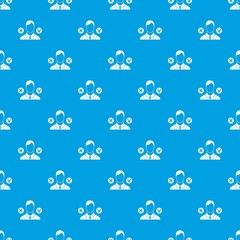 Selection pattern repeat seamless in blue color for any design. Vector geometric illustration