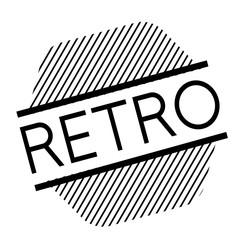 retro black stamp