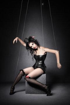 Black Widow Marionette Puppet