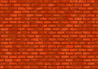 hi-res red brick wall pattern
