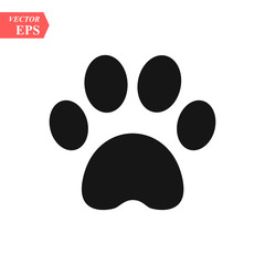 Logo paw. Logo animals. The trail legs of the animal