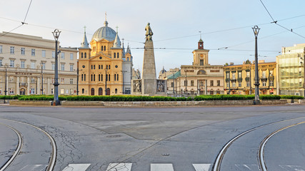 Łódź, Polska- Plac Wolności.
