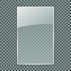 Transparent Glass plate template; Acrylic plate mockup on transparent background for your logo; Can be used on different backgrounds