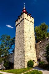 Heuturm an der Museggmauer von Luzern am Vierwaldstättersee, Schweiz