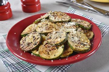 Lemon basil fried zucchini