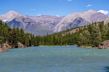 Bow River in Banff Alberta Canada