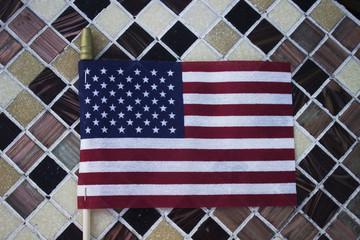 United States flag flat lay