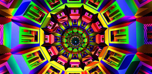 Amazing colorful background vector displaying a trippy dmt drug alien entity concept