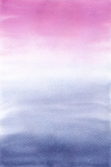 Pink and blue hand painted background.