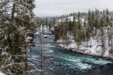 Spokane River in Riverside State Park. Washington, State